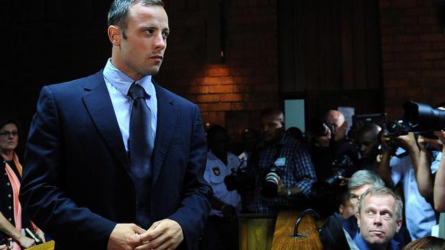 Oscar Pistorius devant la justice sud-africaine, le 22 février 2013 à Pretoria [Alexander Joe / AFP/Archives]