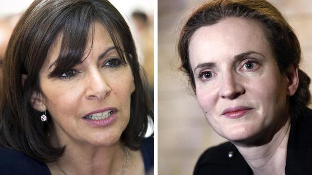 Montage de photos d'archives des candidates PS et UMP à la mairie de Paris, Anne Hidalgo (g) et Nathalie Kosciusko-Morizet (d) [Joel Saget / AFP/Archives]