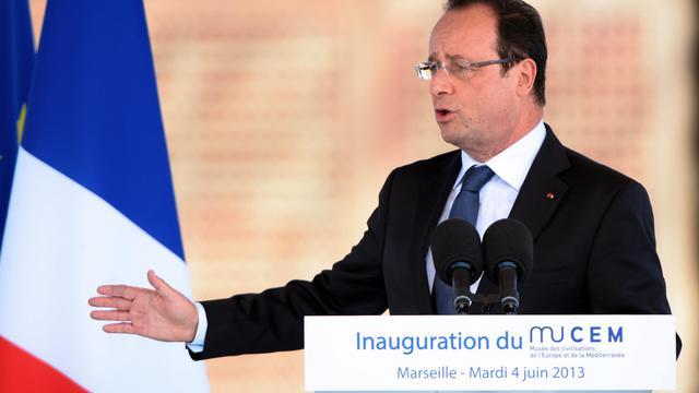 Le président François Hollande, le 4 juin 2013 à Marseille [Gerard Julien / AFP]