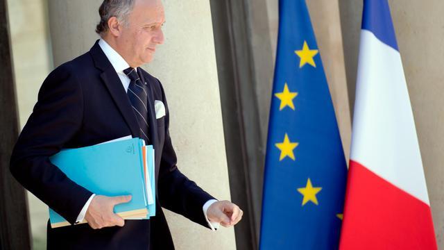 Le ministre français des Affaires étrangères, Laurent Fabius, le 5 juin 2013 à l'Elysée [Lionel Bonaventure / AFP]