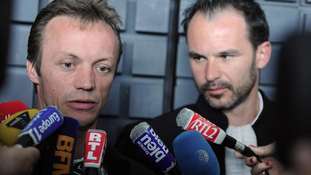 Franck Perrais, le père de Laetitia, répondant aux journalistes à Nantes, le 5 juin 2013 [Jean-Francois Monier / AFP/Archives]