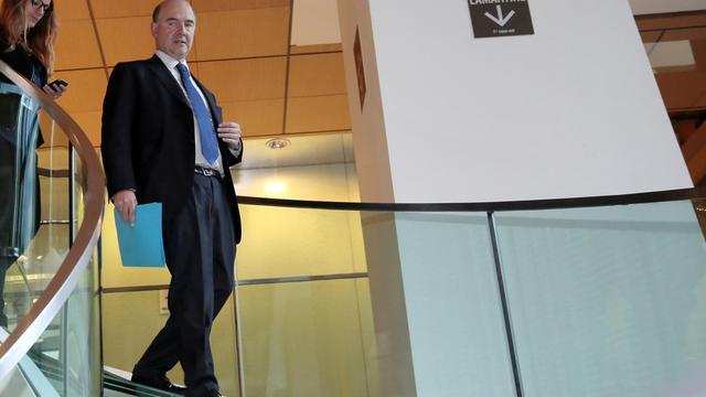 Le ministre de l'Economie, Pierre Moscovici, avant une réunion parlementaire, le 5 juin 2013 à Paris [Jacques Demarthon / AFP]