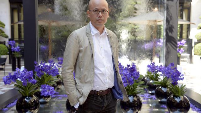Le jeune styliste chinois Mao Jihong, le 6 juin 2013 à Paris, créateur de la marque Exception [Bertrand Guay / AFP]