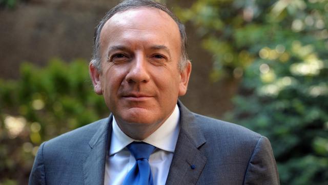 Pierre Gattaz, candidat à la présidence du Medef, pose le 6 juin 2013 à Paris [Eric Piermont / AFP]
