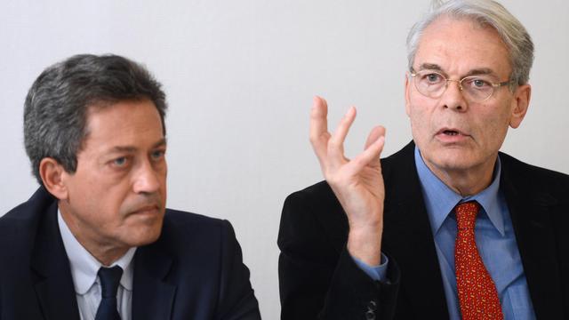 Georges Fenech et Michel Noir le 6 juin 2013 à Lyon [Philippe Desmazes / AFP/Archives]
