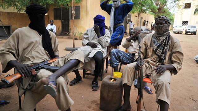 Des combattants islamistes du Mujao, en juillet 2012 à Gao [Issouf Sanogo / AFP/Archives]