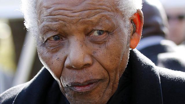 Nelson Mandela, le 17 juin 2010 près de Johannesburg [Siphiwe Sibeko / AFP/Archives]