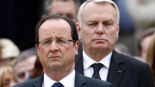 Francois Hollande (g) et Jean-Marc Ayrault, le 11 juin 2013 à Paris [Charles Platiau / Pool/AFP]