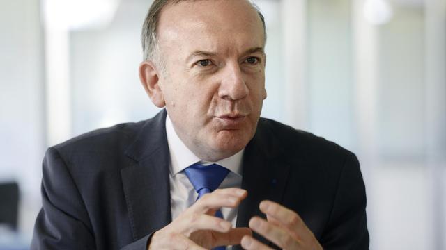 Pierre Gattaz, candidat à la présidence du Medef, le 12 juin 2013 à Saint-Quentin-Fallavier (Isère), le 12 juin 2013 [Philippe Desmazes / AFP]