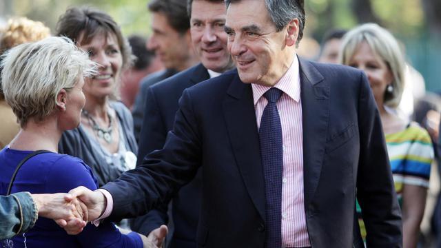 L'ancien Premier ministre UMP, François Fillon, en meeting le 14 juin 2013 à Mandelieu-la-Napoule [Jean-Christophe Magnenet / AFP/Archives]