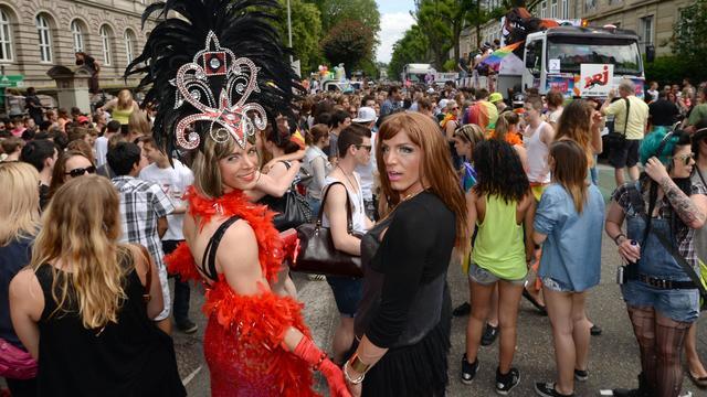 La Gay Pride à Strasbourg le 15 juin 2013 [Patrick Hertzog / AFP]
