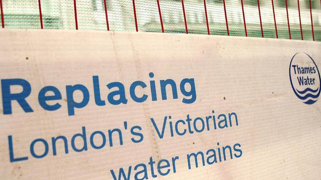 Chantier de rénovation de canalisations par Thames Water au coeur de Londres, le 7 juillet 2006 [John D Mchugh / AFP/Archives]
