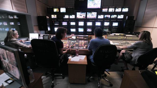 La régie de la radio-télévision ERT, le 14 juin 2013 [Louisa Gouliamaki / AFP/Archives]