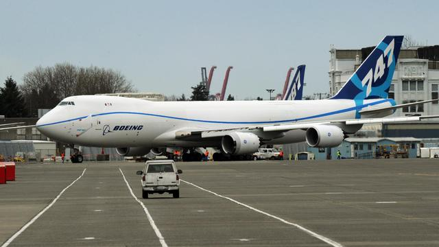 Un Boeing 747-8F le 20 mars 2011 à Washington [Mark Ralston / AFP/Archives]