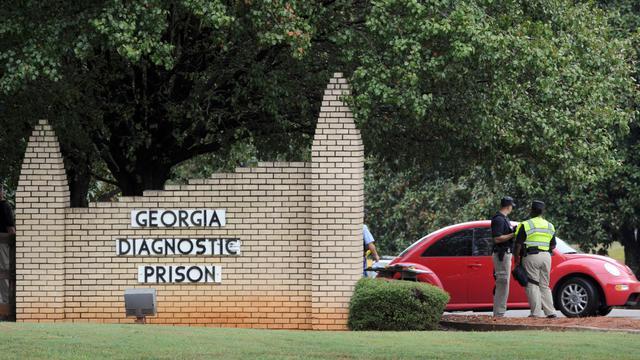 L'entrée de la prison de Jackson, en Géorgie, le 21 septembre 2011
