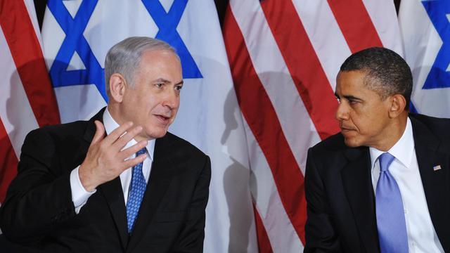 """Benjamin Netanyahu et le président américain Barack Obama ont eu une """"bonne"""" conversation téléphonique mardi soir, a fait savoir mercredi le porte-parole du Premier ministre israélien. [AFP]"""