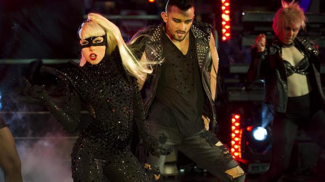Lady Gaga en concert à New York, le 31 décembre 2011 [Don Emmert / AFPArchives]