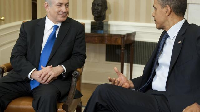 """Israël et les Etats-Unis discutent de la nécessité de définir des """"lignes rouges claires"""" à ne pas franchir par l'Iran dans son programme nucléaire, a déclaré le Premier ministre israélien Benjamin Netanyahu dans une interview à la chaîne canadienne CBC. [AFP]"""