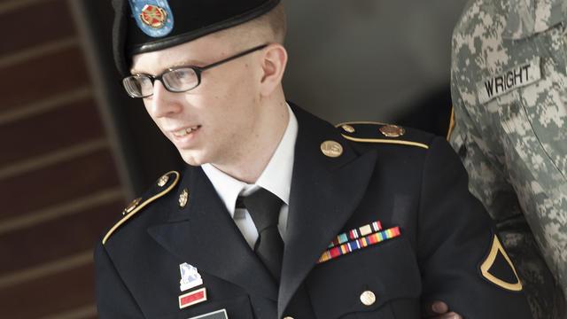 Bradley Manning à Fort Meade, dans le Maryland, le 15 mars 2012 [Brendan Smialowski / AFP/Archives]