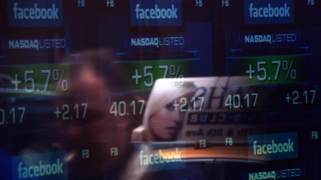 Plus de 271 millions d'actions de Facebook pourront être cédées à partir de jeudi, date qui clôt une période de blocage durant laquelle les actionnaires historiques du réseau social ne pouvaient vendre ces titres.[AFP]