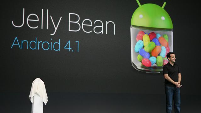 Une conférence de présentation d'une mise à jour d'Android, le 27 juin 2012 à San Francisco [Kimihiro Hoshino / AFP/Archives]