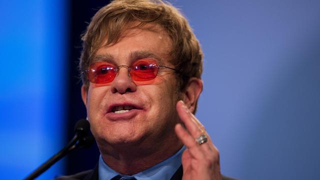 Le compositeur et chanteur Elton John, le 23 juillet 2012 à Washington [Jim Watson / AFP/Archives]
