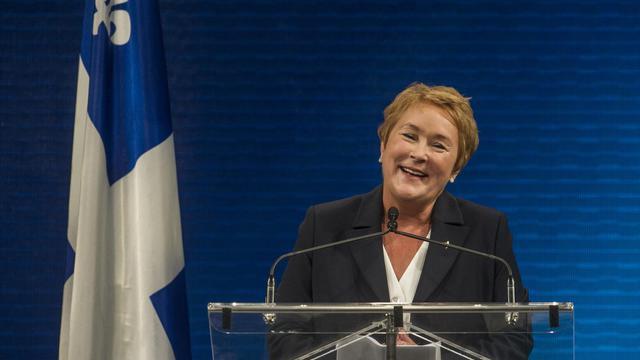 Pauline Marois, le 4 septembre 2012 à Montréal [Rogerio Barbosa / AFP/Archives]