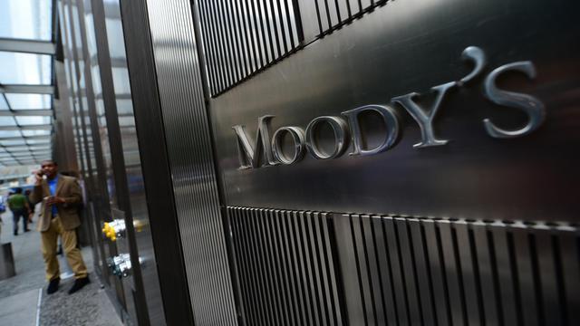 L'entrée du siège de l'agence de notation Moody's à New York [Emmanuel Dunand / AFP/Archives]