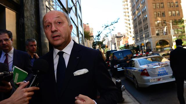 Laurent Fabius le 24 septembre 2012 à New York [Emmanuel Dunand / AFP]