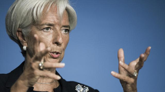 La directrice générale du FMI Christine Lagarde s'exprime le 24 septembre 2012 à Washington [Paul J. Richards / AFP/Archives]