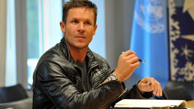 Felix Baumgartner, le 23 octobre 2012 au siège des Nations Unies à New York [Stan Honda / AFP/Archives]