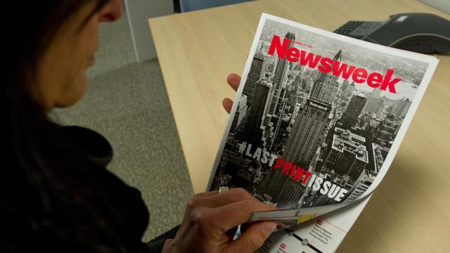 Le dernier numéro papier de Newsweek, photographié le 24 décembre 2012 à Washington [Karen Bleier / AFP/Archives]