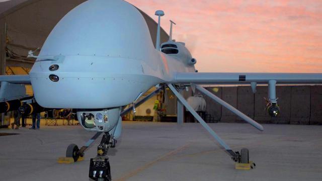 Photo remise par l'armée américaine le 27 février 2011 et montrant un drone de combat [ / US ARMY/AFP/Archives]