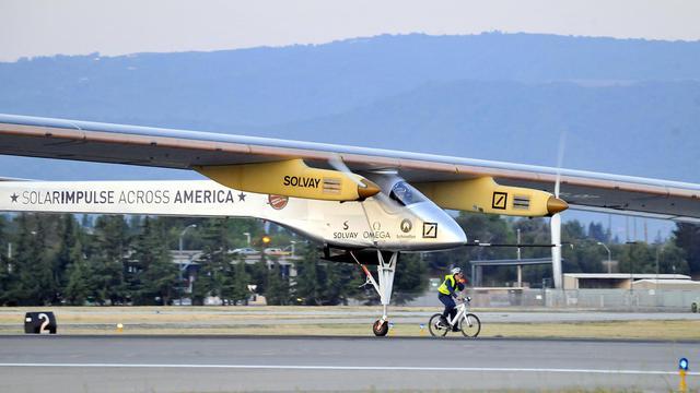 L'avion solaire Solar Impulse à Mountain View, en Californie, le 3 mai 2013 [Josh Edelson / AFP/Archives]