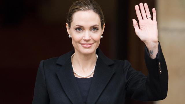 L'actrice et ambassadrice pour le HCR, Angelina Jolie, le 11 avril 2013 à Londres [Leon Neal / AFP/Archives]