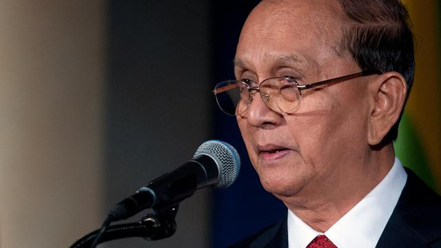 Le président birman Thein Sein à Washington, le 20 mai 2013 [Nicholas Kamm / AFP/Archives]