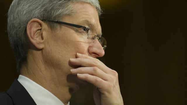 Le patron d'Apple Tim Cook, le 21 mai 2013 à Washington DC [Jim Watson / AFP/Archives]
