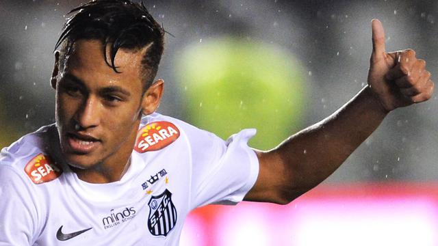Le joueur de Santos Neymar durant un match de Coupe du Brésil contre Joinville, le 22 mai 2013 à Santos [Nelson Almeida / AFP/Archives]