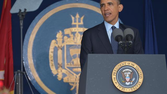 Le président américain Barack Obama le 24 mai 2013 à Annapolis, dans le Maryland [Mandel Ngan / AFP]