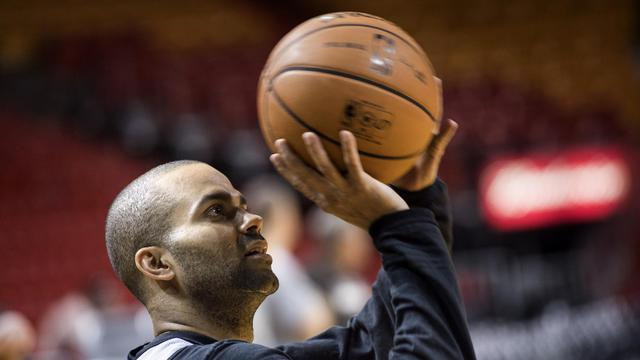 Le Français Tony Parker de San Antonio lors du match 1 de la finale NBA contre Miami le 7 juin 2013 à Miami [Brendan Smialowski / AFP]