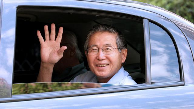 L'ex-chef d'Etat péruvien Alberto Fujimori, le 20 février 2007 à Santiago [Geraldo Caso Bizama / AFP/Archives]