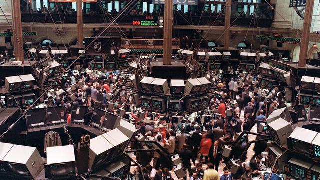 La bourse de New York en octobre 1987.