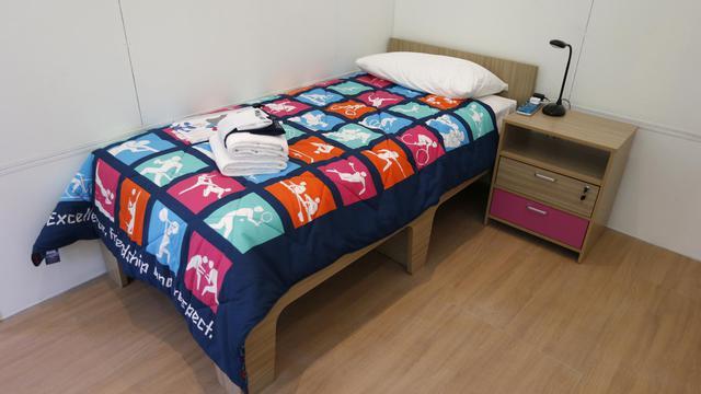 Un lit du village olympique.