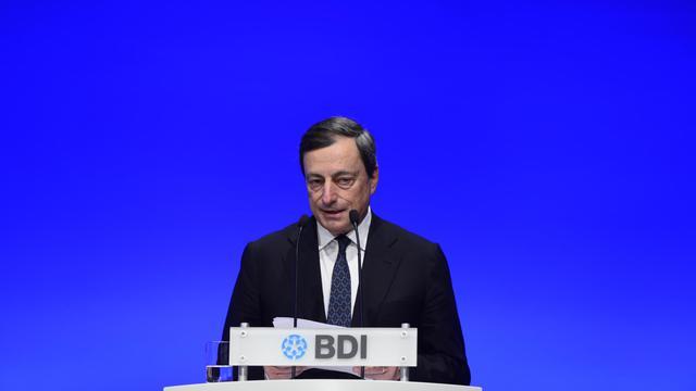 Mario Draghi devant le congrès de la fédération allemande de l'industrie (BDI) ce mardi.