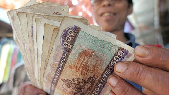 Le Kyat, la monnaie birmane
