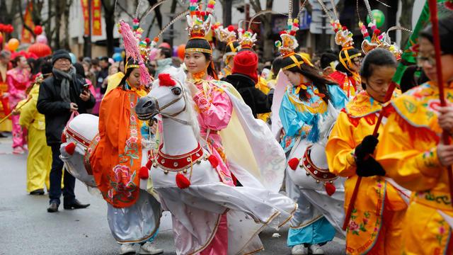 Photo d'illustration prise lors du traditionnel défilé du Nouvel an chinois à Paris, en février 2017.
