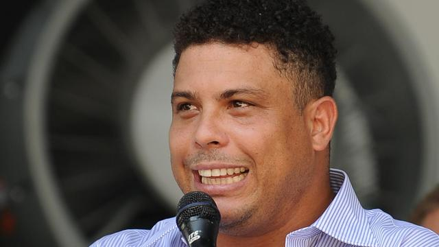 L'ancienne star brésilienne du football Ronaldo.