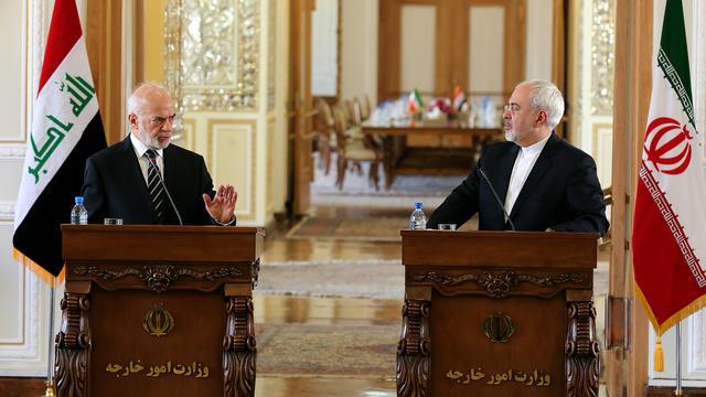 Les ministres irakiens et iraniens des affaires étrangères, mercredi 6 janvier à Téhéran