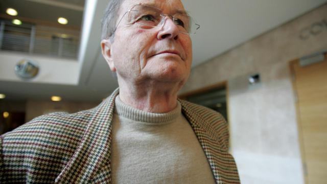 Jean-Maurice Agnelet, lors de son procès à la cour d'assise d'Aix-en-Provence, le 11 octobre 2007