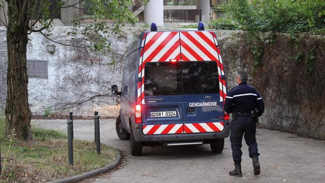 Un fourgon de gendarmerie le 28 juillet 2011.